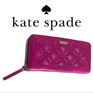 Kate Spade Pink Astor Court Quilted Leather Wallet